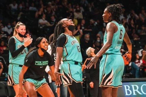 Jazmine Jones, New York Liberty celebrate unlikely WNBA playoff berth