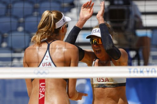 Alix Klineman and April Ross are one win away from gold