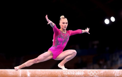 Angelina Melnikova ends U.S. win streak with all-around gold at gymnastics worlds