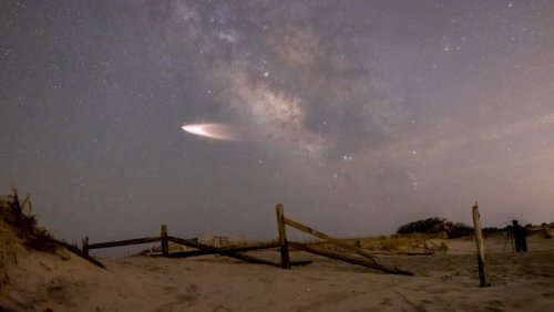 Rocket captured soaring over the New Jersey coast