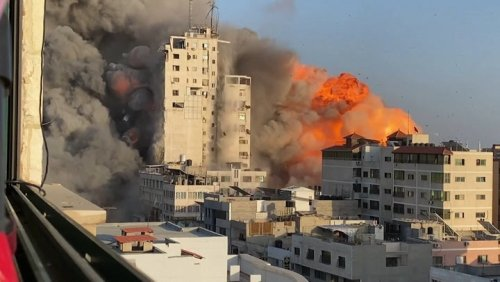May 13: Watch footage of Israeli bombs destroying buildings in Gaza and rockets from Hamas targeting Israel
