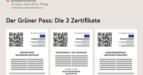 Ausdruck Grüner Pass-Zertifikate auf Gemeindeämtern möglich