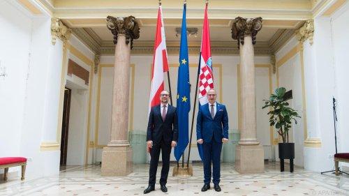 Schallenberg rief in Kroatien zum Impfen auf