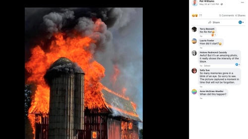 Fireworks set off for TikTok video destroy pre-Civil War barn, Michigan officials say