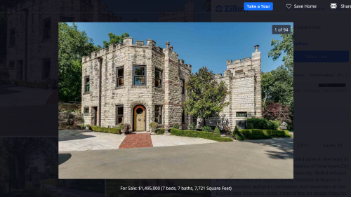Live like royalty in this 19th century castle that's for sale in Kansas