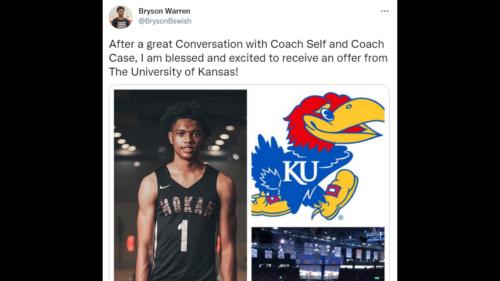 KU Jayhawks men's basketball recruiting: Two top recruits in Class of 2023 make visits