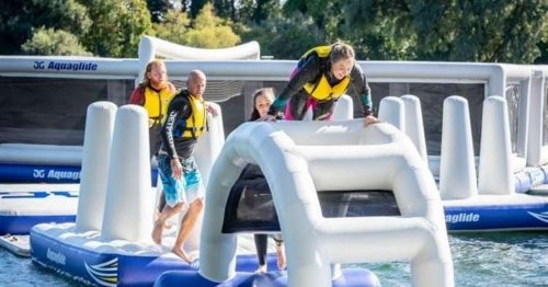 Kent's brand new 12 obstacle aqua park will open next month
