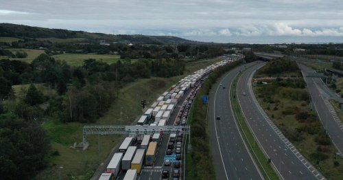 Live updates on hours of delays at Channel Tunnel and queues on M20