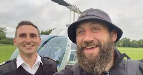 'Super dad' witnessed birth of daughter before taking helicopter to rugby game