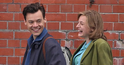 Pictures show Sevenoaks actress with Harry Styles on set of new film