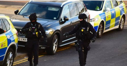 Pictures show armed police descending on Cliftonville