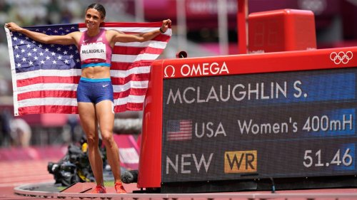 From Big Blue to Olympic gold: Ex-Cat McLaughlin shatters world hurdles record