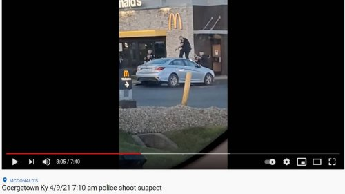 'No way that dude can be alive.' Videos show Central Kentucky police shooting suspect