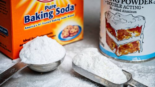 What's the difference between baking powder and baking soda? Can I use one for the other?