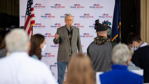 Mitch McConnell uses unspent campaign money to urge Kentuckians to get vaccinated