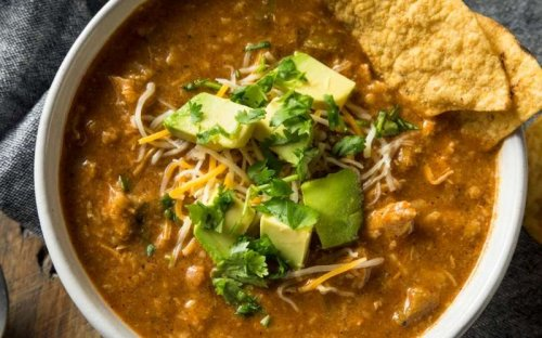 Mexican Chicken Soup At Its Best. Yummy Low-Carb Chicken Tortilla Soup Recipe
