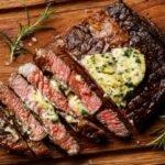 Ribeye Steak with Garlic Herb Butter