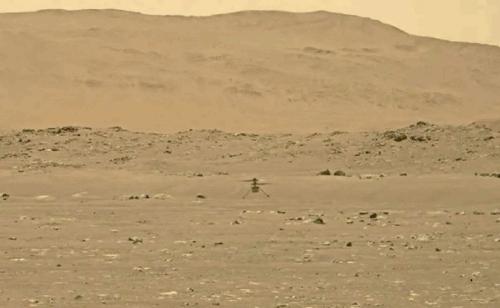 Nasa Mars helicopter heard humming through thin Martian air