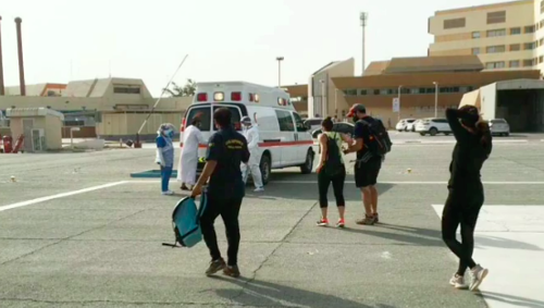 Video: Police rescue 9 trapped trekkers by helicopter in UAE