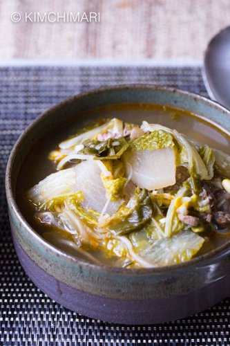 Instant Pot Korean Beef Cabbage Radish Soup