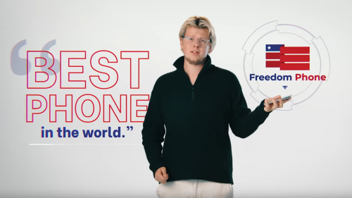 """Bitcoin dork launches scam """"Freedom Phone"""" for the MAGA crowd"""