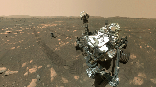 NASA Shares First Double Selfie of Perseverance Rover and Ingenuity Helicopter