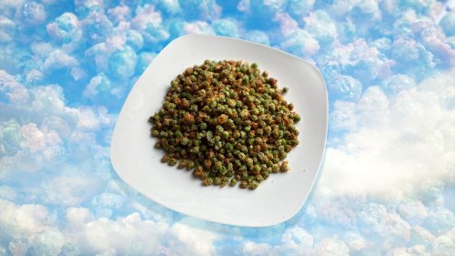 Potato-Crusted Air Fried Peas: a side dish, a main, a snack, a lifestyle