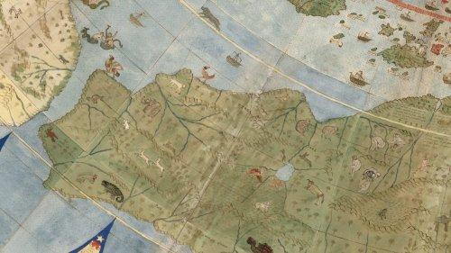 Piérdete en los maravillosos detalles de este mapamundi de 1587 restaurado
