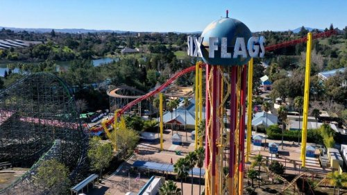 A man is saving money by eating most of his meals at Six Flags