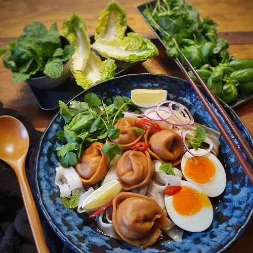 Easy Vietnamese Pho Dumpling Soup
