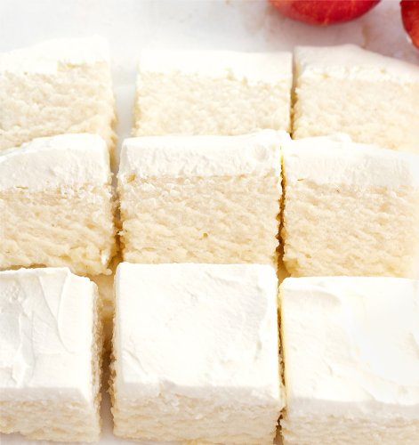 2 Ingredient Healthy Apple Cloud Cake (No Flour, Eggs, Sugar, Butter or Oil)