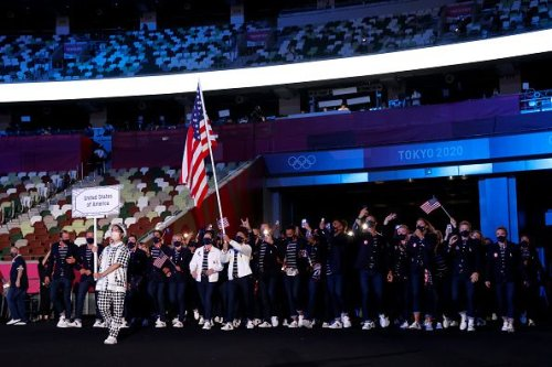 Japan is in full view as Tokyo Olympics features video game music, manga and nearby protest