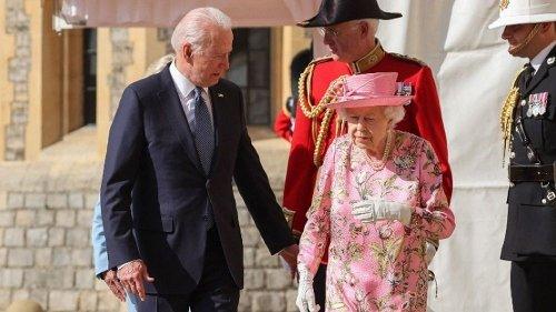 Empfang auf Schloss Windsor: Biden vergleicht Queen mit seiner Mutter