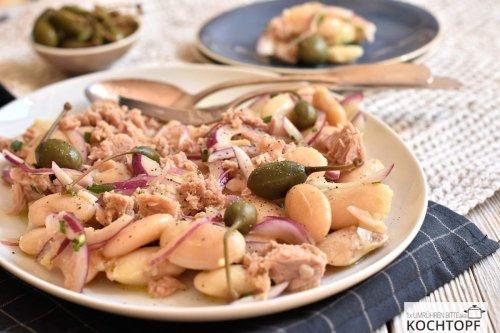 Mediterraner weisser Bohnen- & Thunfisch-Salat