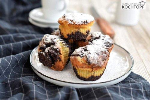 Brownie-Käsekuchen-Muffins – 3-in-1!
