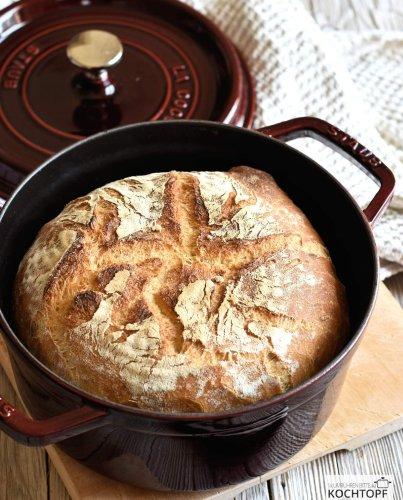 Pane di grano duro {italienisches Hartweizenbrot aus dem Topf}