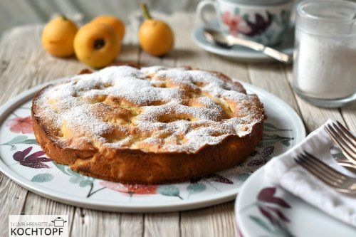 Einfacher Marzipan-Nispero-Kuchen