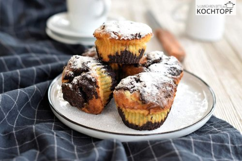 Brownie-Käsekuchen-Muffins – 3-in-1!