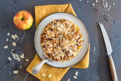 Apfel-Käsekuchen | einfach und gesund | im Backofen oder Airfryer