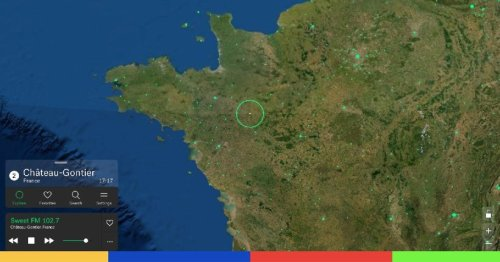 Basé sur Google Maps, ce site génial vous permet d'écouter les radios du monde entier