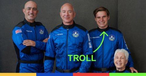 Le gamin qui est parti dans l'espace avec Jeff Bezos l'a complètement trollé