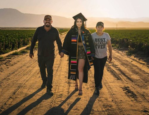 'Never Forget Where You Come From': California College Grad Honors Her Farmworker Parents With a Photo Shoot in the Fields | KQED