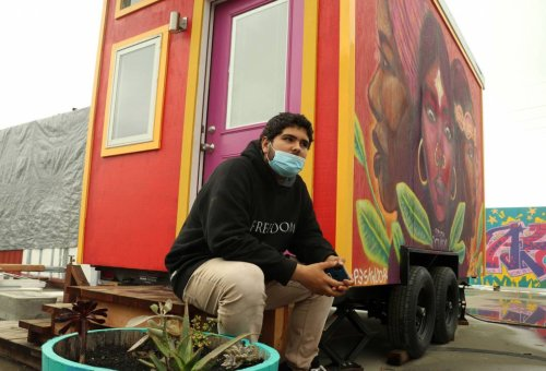 'A Beacon of Light': Unhoused Youth Move Into Oakland's New Tiny House Village   KQED