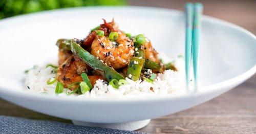 Szechuan Prawns Spicy Stir Fry