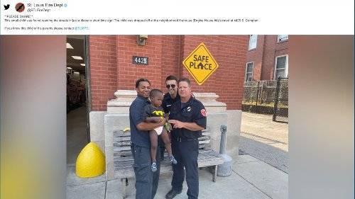 Firefighters try to identify child found wandering streets in diaper in south St. Louis