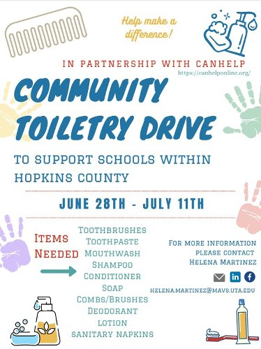 Local Nurse Hosting Community Toiletry Drive For Hopkins County Schools