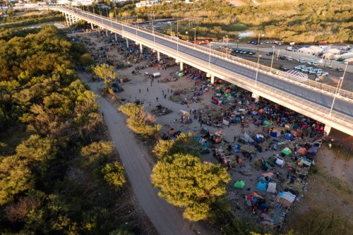 Camp along Texas border where thousands have waited shrinks as removals ramp up