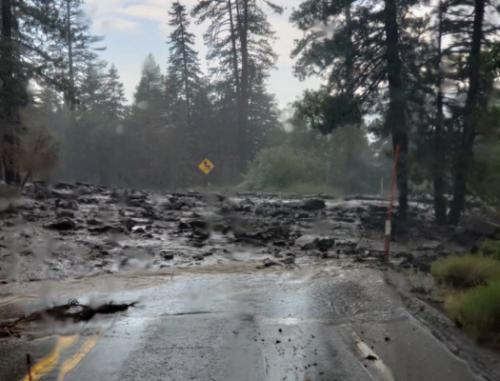 Heavy downpours, mud flow prompt closure of Highway 38 in Big Bear area