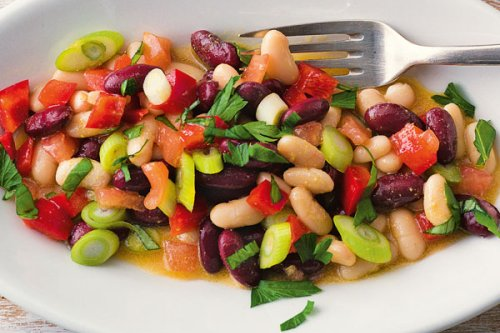 Vegetarischer Bohnensalat