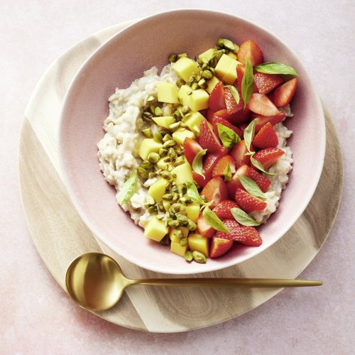 Porridge mit selbst gemachtem Reisdrink